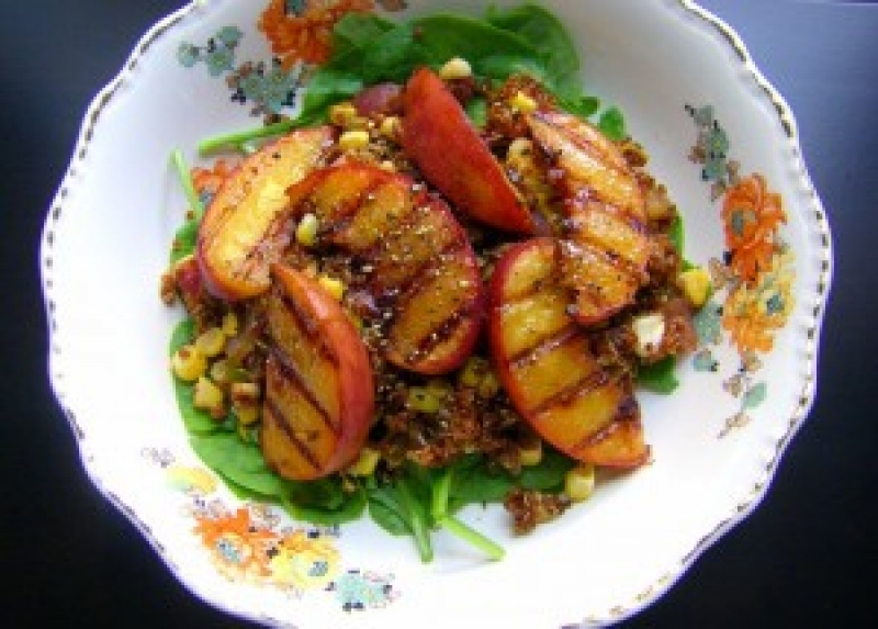 Vegan Recipe: Grilled Peaches, by The Nourishing Vegan